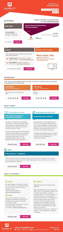 Newsletter Mediametrie Eurodata