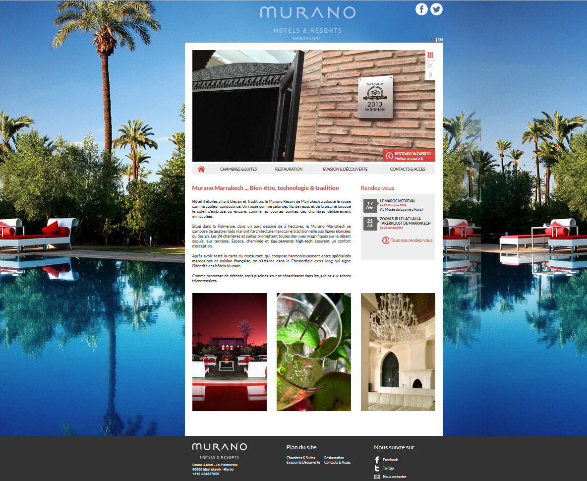 SITE WEB HOTEL WEBDESIGN