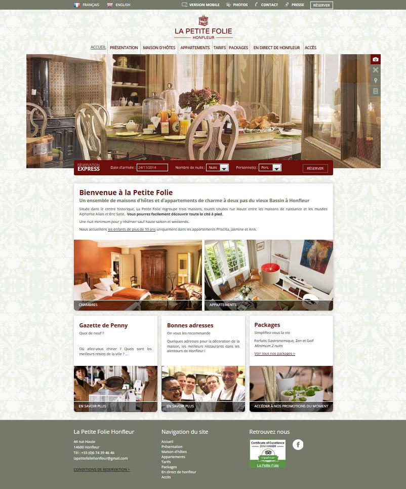 site web hotels webdesign