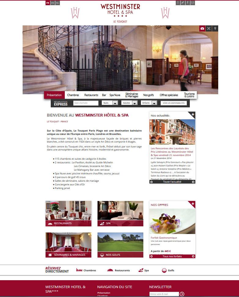 webdesign site web hotel